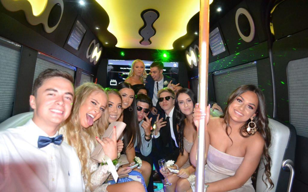 School Formal limo, school formal party bus, school formal cars