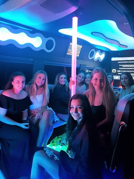 teens party bus